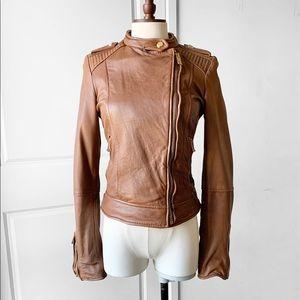 ZARA Women's Leather Biker Jacket